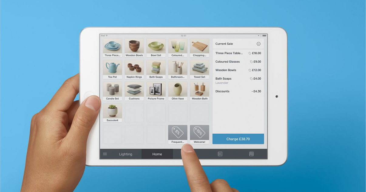 Square and billforward used to process online payments as well as online payments